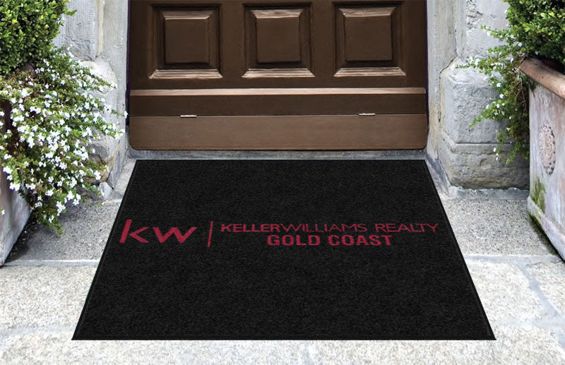 Keller Williams Realty Gold Coast 3 X 3 Rubber Backed Carpeted HD - The Personalized Doormats Company