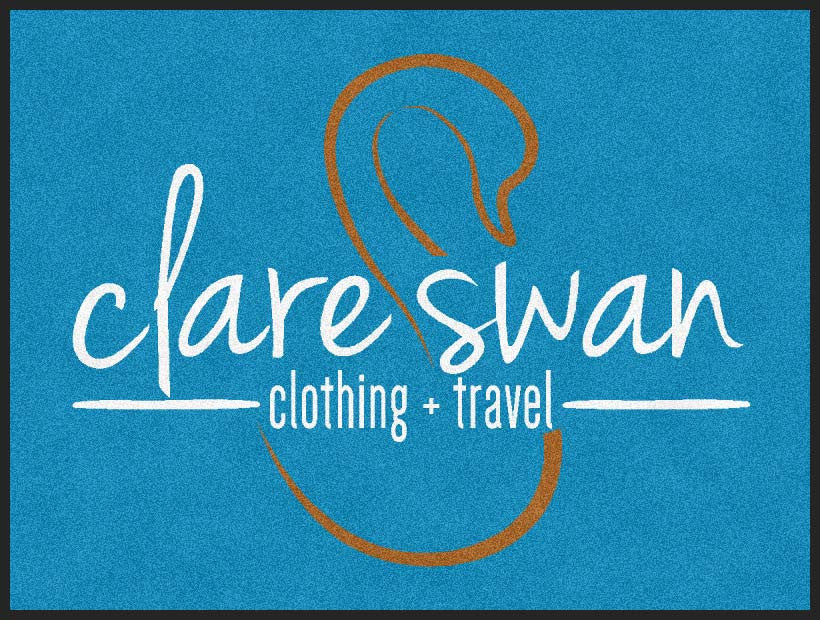 clare swan 3 X 4 Rubber Backed Carpeted - The Personalized Doormats Company
