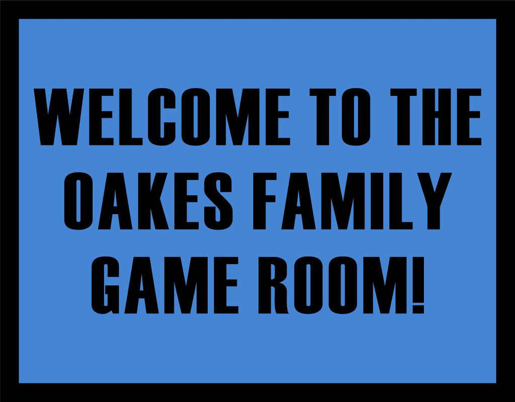 Game Room 2.67 X 3.42 Luxury Berber Inlay - The Personalized Doormats Company