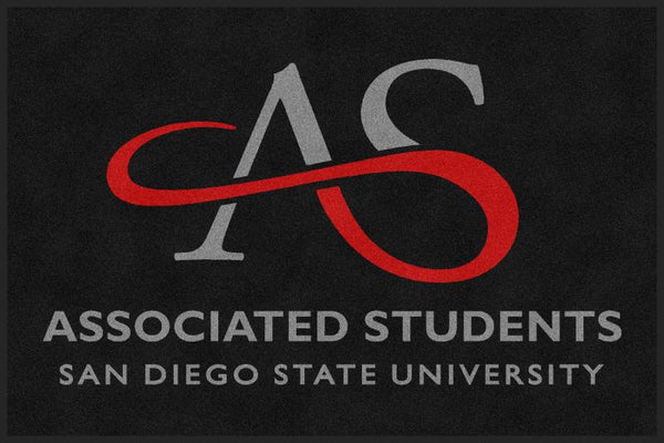 AS SDSU 4 x 6 Rubber Backed Carpeted - The Personalized Doormats Company
