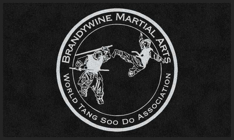 Brandywine Martial Arts 3 X 5 Rubber Backed Carpeted HD - The Personalized Doormats Company