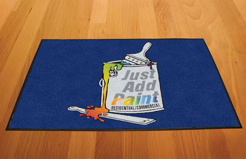 Just Add Paint 2 X 3 Rubber Backed Carpeted HD - The Personalized Doormats Company
