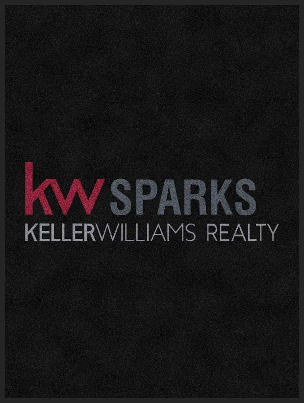 Keller Williams Realty Sparks 3 x 4 Rubber Backed Carpeted HD - The Personalized Doormats Company