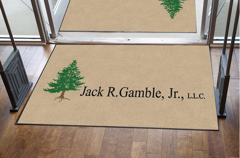 JRG Doormat 4 X 6 Rubber Backed Carpeted HD - The Personalized Doormats Company