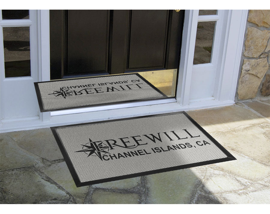 Freewill Logo Mat 2 X 3 Luxury Berber Inlay - The Personalized Doormats Company