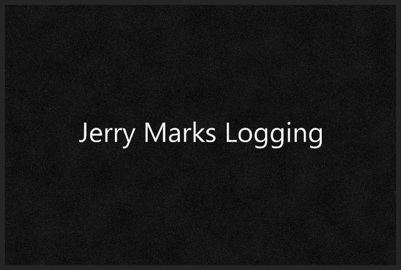 Jerry Marks Logging 4 X 6 Rubber Backed Carpeted HD - The Personalized Doormats Company