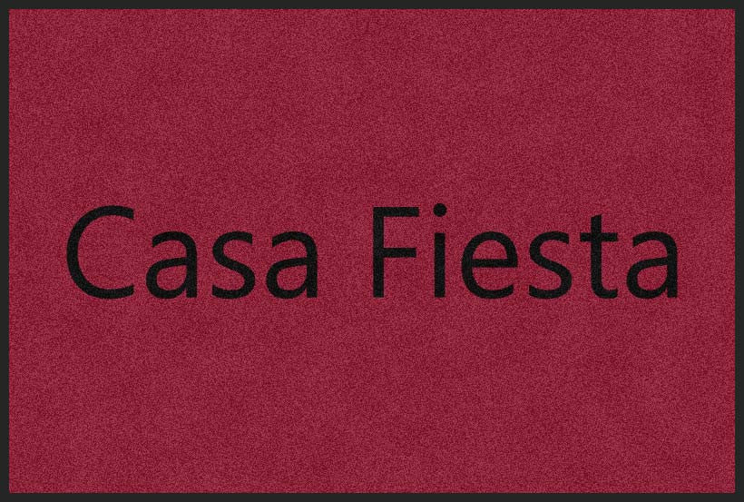 Casa fiesta 4 X 6 Rubber Backed Carpeted HD - The Personalized Doormats Company