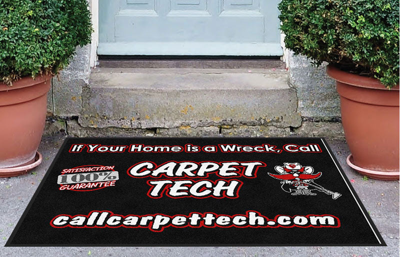 Carpet Tech 3 3 x 4 Rubber Backed Carpeted - The Personalized Doormats Company