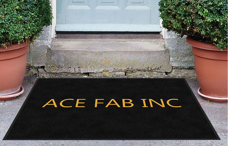 ACE FABRICATORS, INC. 3 x 4ACE FAB Rubber Backed Carpeted HD - The Personalized Doormats Company