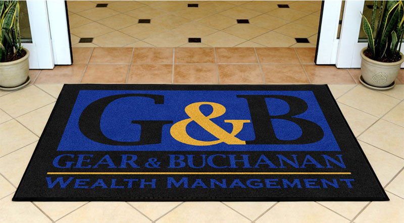 Gear Buchanan 3 X 5 Rubber Backed Carpeted HD - The Personalized Doormats Company