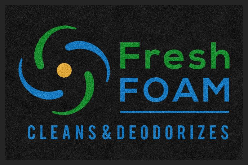Fresh Foam 2 X 3 Rubber Backed Carpeted HD - The Personalized Doormats Company