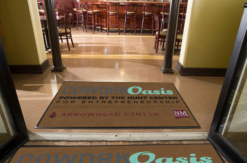 Cowork Oasis Mat 4 X 6 Rubber Backed Carpeted HD - The Personalized Doormats Company