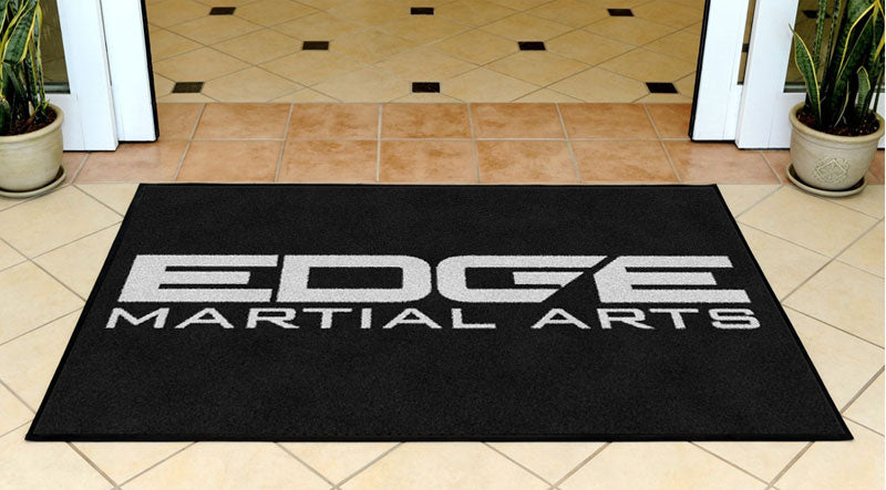 Edge Martial Arts 3 X 5 Rubber Backed Carpeted - The Personalized Doormats Company