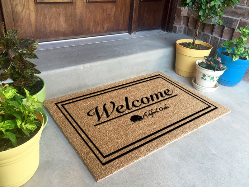 Ashford Oaks Door Mats 2 x 3 Flocked Classic Coir (PDC) - The Personalized Doormats Company