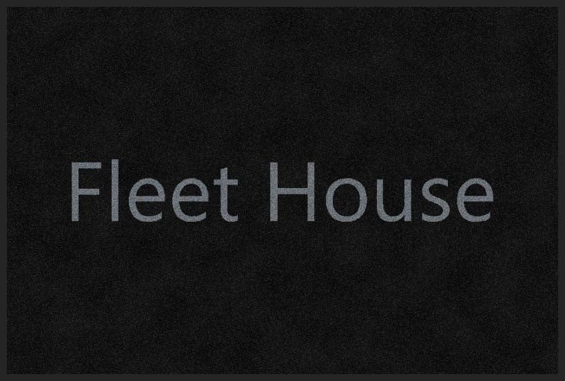Fleet House 2 X 3 Rubber Backed Carpeted HD - The Personalized Doormats Company
