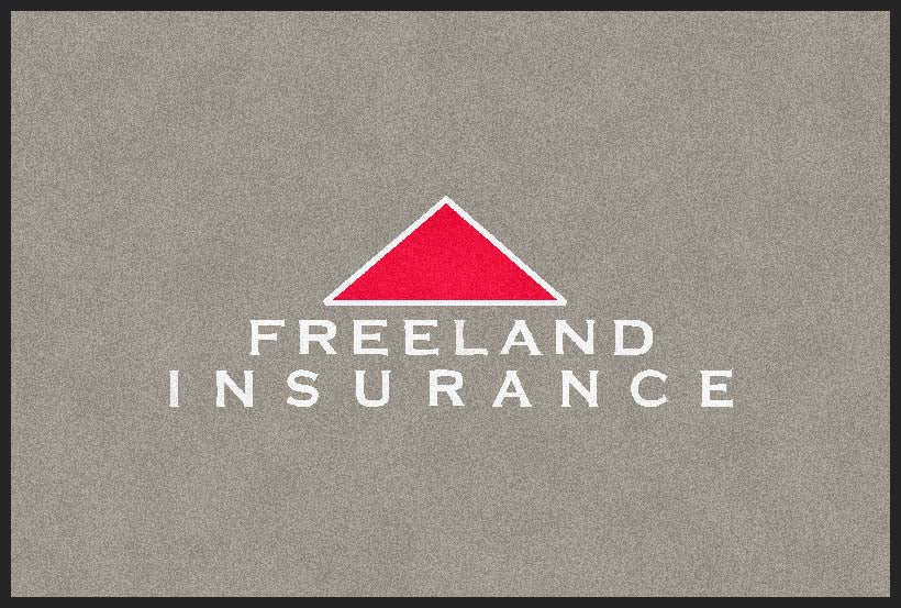 Freeland Insurance 2 X 3 Flocked Olefin 2 Color - The Personalized Doormats Company