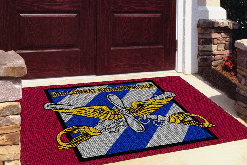 3RD Combat Aviation Brigade 4 x 6 Waterhog Impressions - The Personalized Doormats Company