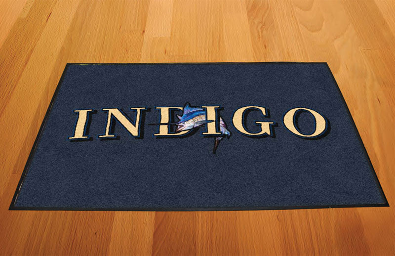 Indigo 2 X 3 Rubber Backed Carpeted HD - The Personalized Doormats Company