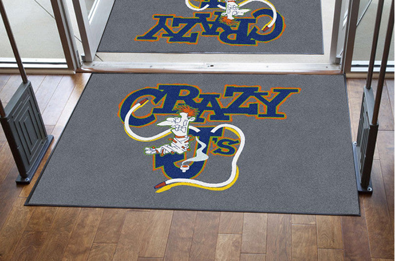 Crazy JS 4 X 6 Rubber Backed Carpeted HD - The Personalized Doormats Company