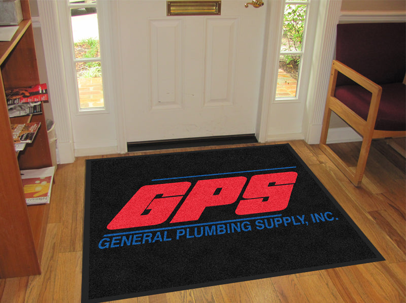 GPS 3 X 3 Rubber Backed Carpeted - The Personalized Doormats Company