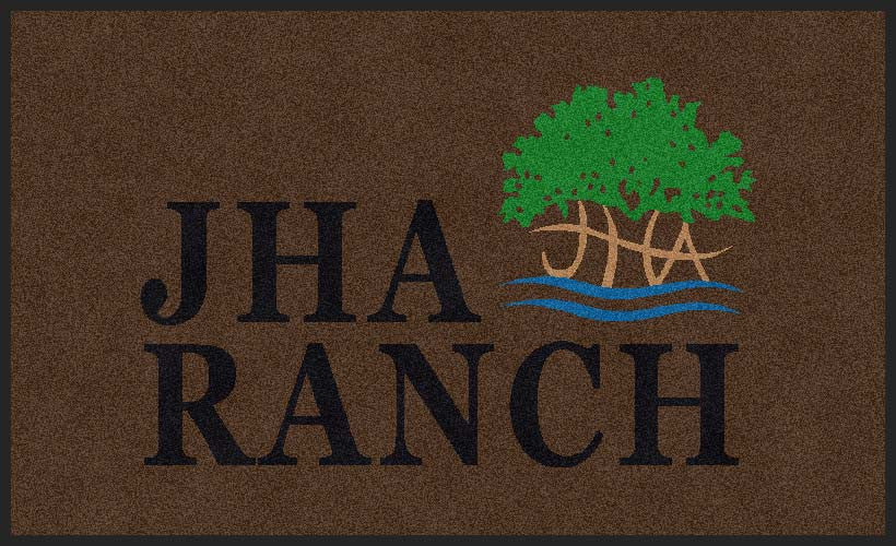 JHA Ranch 3 3 x 5 Rubber Backed Carpeted HD - The Personalized Doormats Company