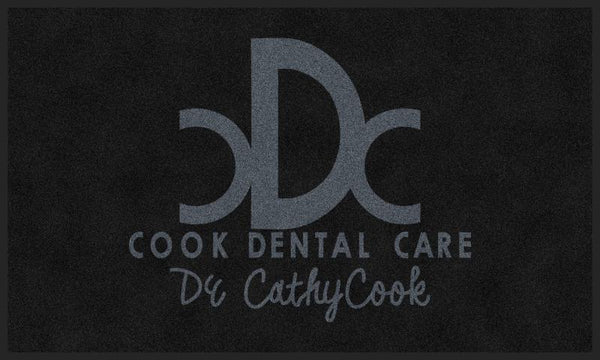 Cook Dental Care 3 X 5 Rubber Backed Carpeted HD - The Personalized Doormats Company