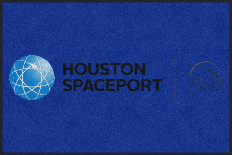 Houston Airport System / Houston Spacepo 4 X 6 Rubber Backed Carpeted HD - The Personalized Doormats Company