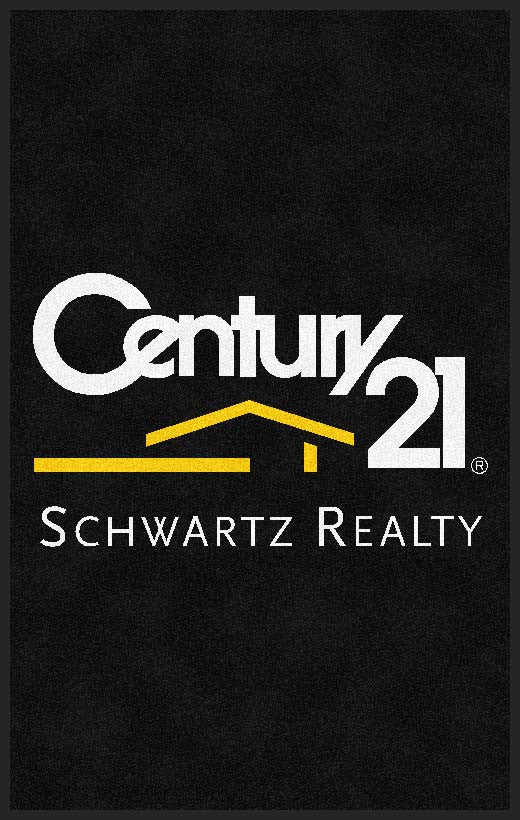 Century 21 Schwartz Realty (Big Pine) 5 x 8 Rubber Backed Carpeted HD - The Personalized Doormats Company