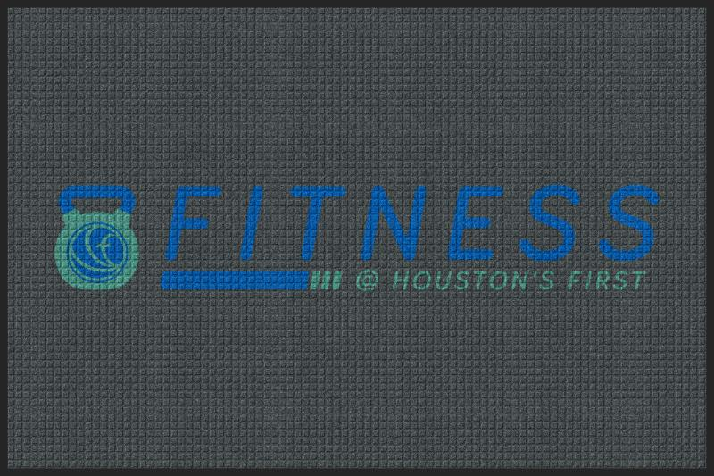 FItness @ Houston's First 4 X 6 Waterhog Impressions - The Personalized Doormats Company