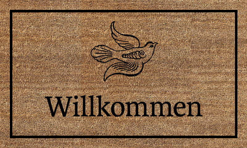 Frieden Welcome Mat (2) 18 X 30 Flocked Classic Coir (PDC) - The Personalized Doormats Company