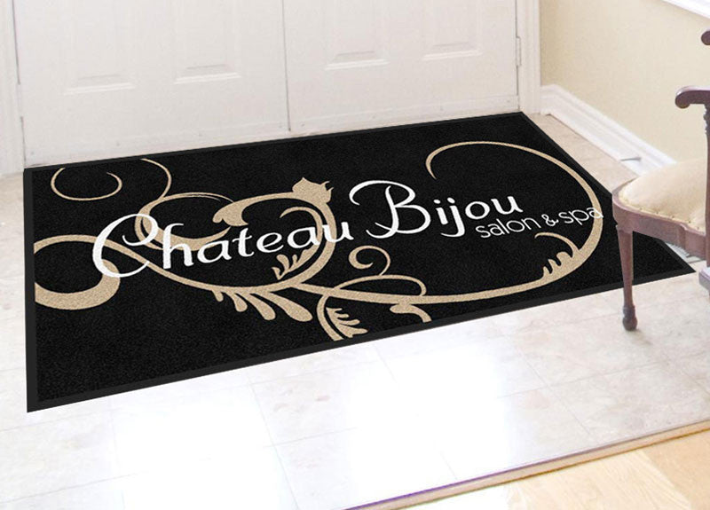 Chateau Bijou 3 X 6 Rubber Backed Carpeted HD - The Personalized Doormats Company