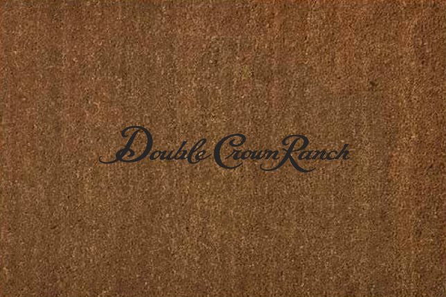 "Double Crown Ranch 4 X 6 1/2"" KOKO (1 Color) - The Personalized Doormats Company"