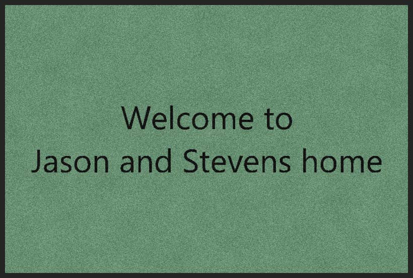 Jason & Steven 2 X 3 Rubber Backed Carpeted HD - The Personalized Doormats Company