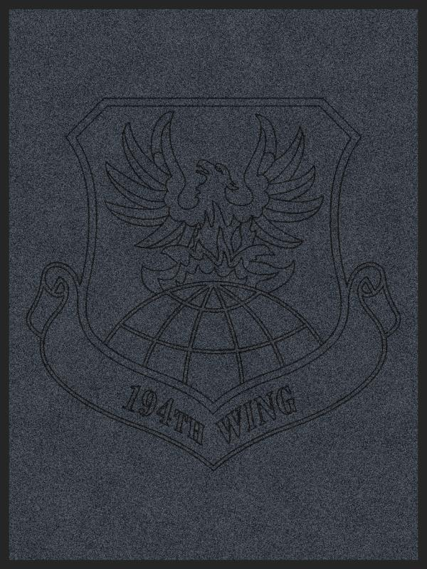 194th Wing 3 x 4 Rubber Backed Carpeted HD - The Personalized Doormats Company
