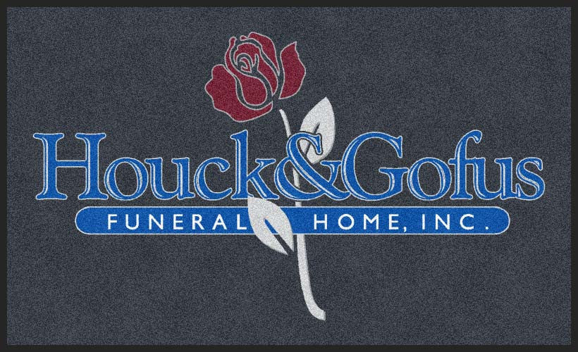Houck & Gofus Funeral Home 3 x 5 Rubber Backed Carpeted HD - The Personalized Doormats Company