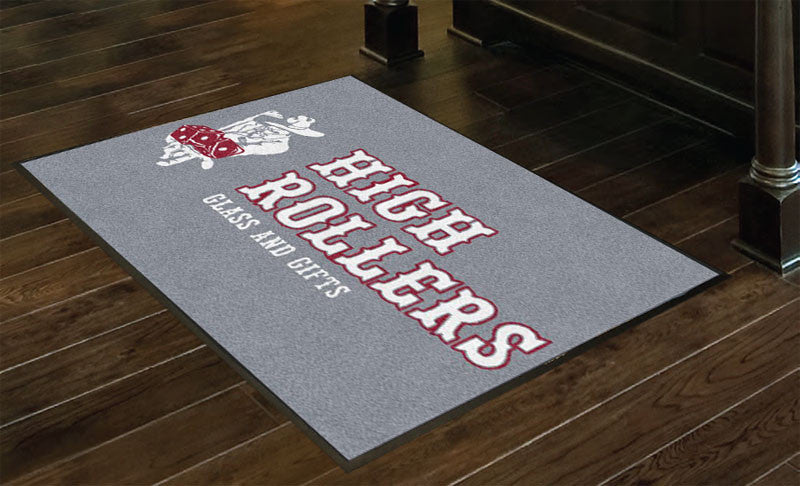 High Rollers 3 x 4 Rubber Backed Carpeted HD - The Personalized Doormats Company