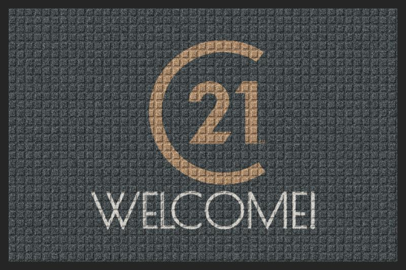 C21-Welcome 2 X 3 Waterhog Impressions - The Personalized Doormats Company