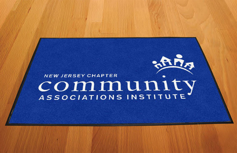 CAI-NJ 2 X 3 Rubber Backed Carpeted HD - The Personalized Doormats Company