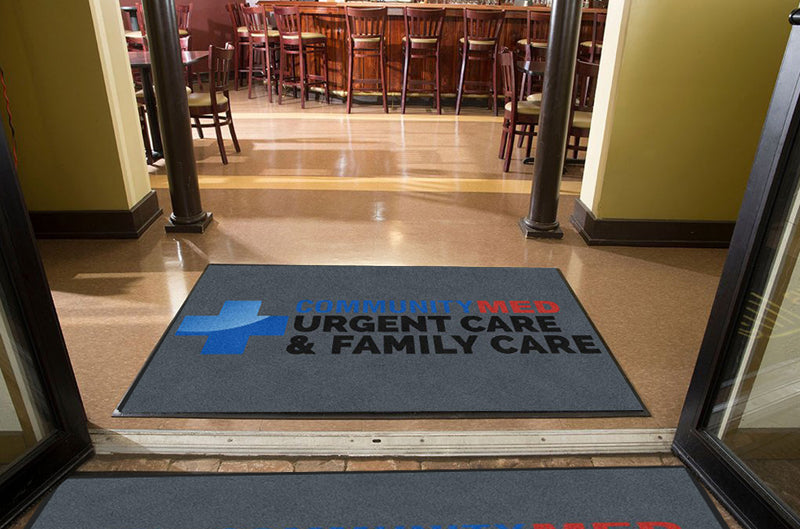 Community Med 4 X 6 Rubber Backed Carpeted HD - The Personalized Doormats Company