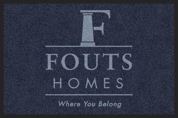 Fouts Homes 2 2 X 3 Rubber Backed Carpeted HD - The Personalized Doormats Company