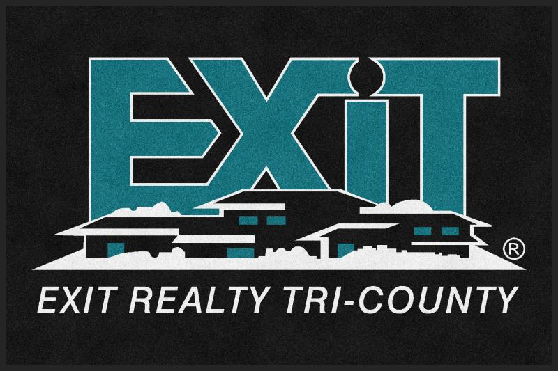 Exit Realty Tri County 4 X 6 Rubber Backed Carpeted HD - The Personalized Doormats Company