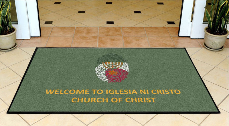 Church of Christ 3 X 5 Rubber Backed Carpeted HD - The Personalized Doormats Company