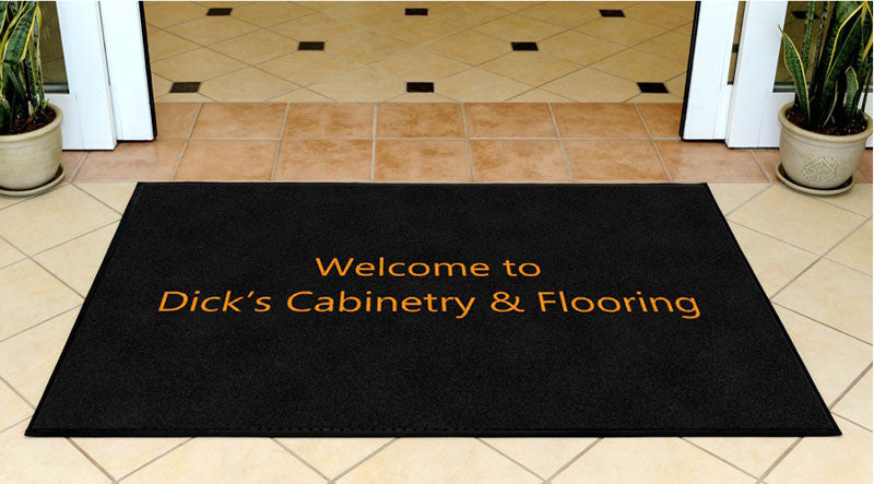 Dick's Cabinetry & Flooring 3 X 5 Rubber Backed Carpeted HD - The Personalized Doormats Company