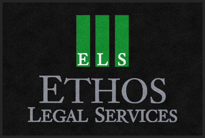 Ethos Legal Services 2 X 3 Rubber Backed Carpeted HD - The Personalized Doormats Company