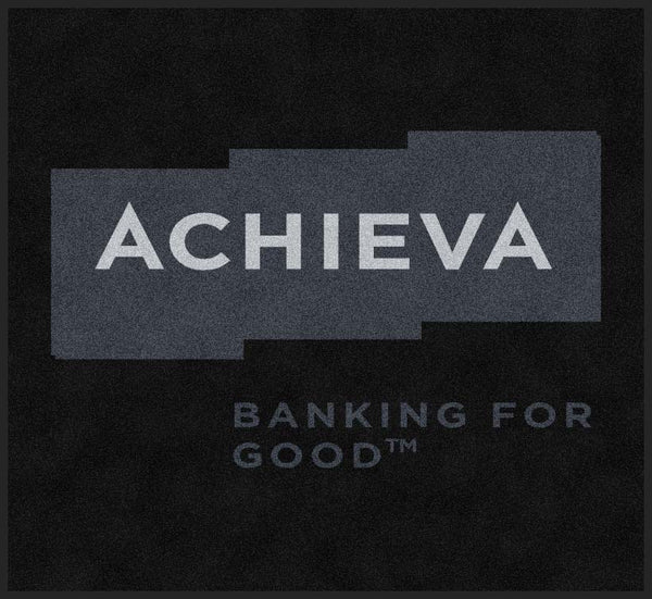 Achieva Credit Union 5.5 X 6 Rubber Backed Carpeted HD - The Personalized Doormats Company