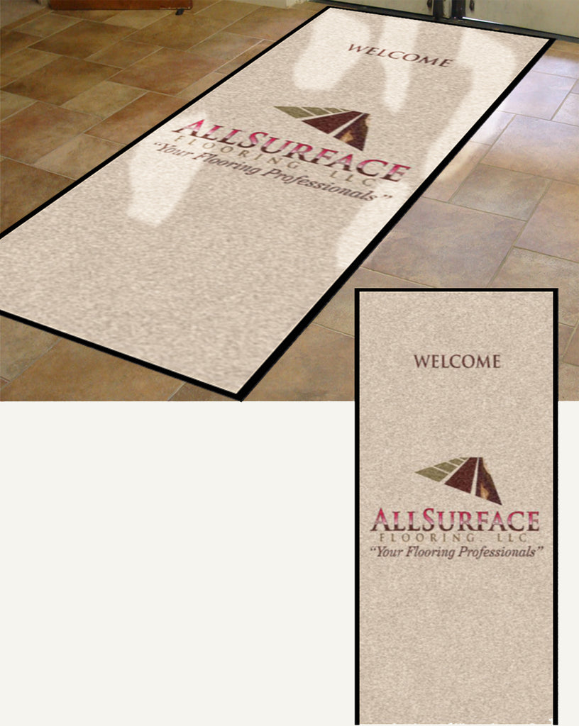 All Surface Flooring3 5 x 10 Rubber Backed Carpeted HD - The Personalized Doormats Company