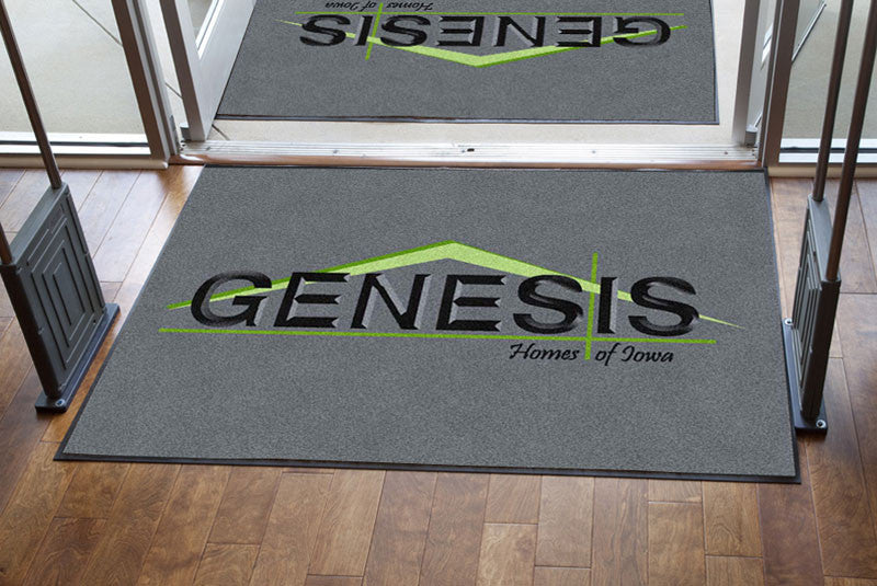 Genesis Homes 4 x 6 Rubber Backed Carpeted HD - The Personalized Doormats Company