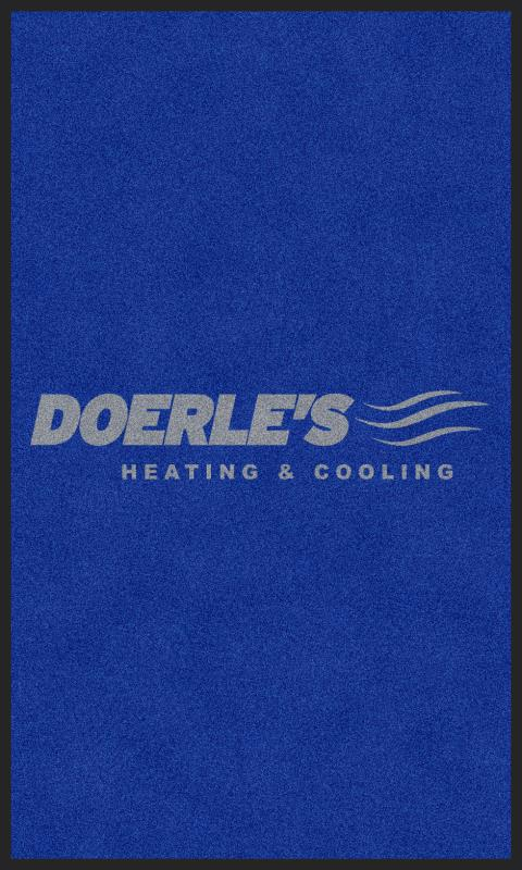 DOERLE'S HEATING & COOLING, INC 3 x 5 Custom Plush 30 HD - The Personalized Doormats Company