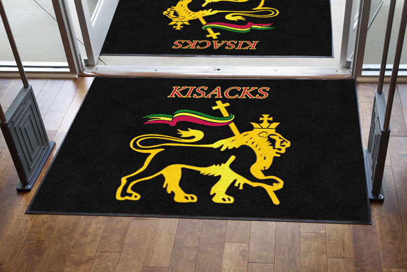 Karlos Kisack 4 X 6 Rubber Backed Carpeted HD - The Personalized Doormats Company