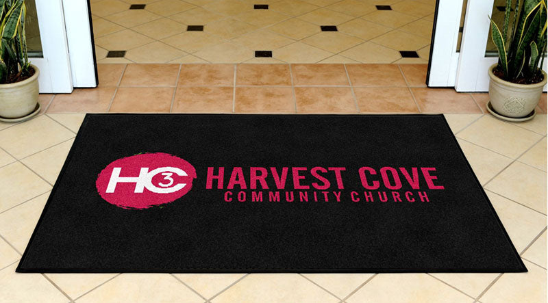 Harvest Cove Community Church 3 X 5 Rubber Backed Carpeted HD - The Personalized Doormats Company